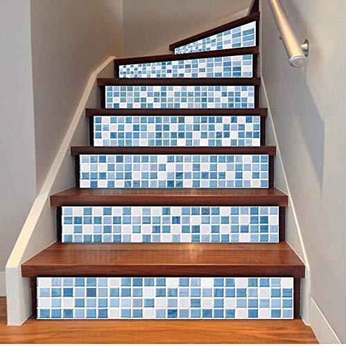 Treppenaufkleber Blau Weiß Arabisch Stil 7,1X39,4