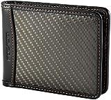 Portefeuille Premium pour Homme | Fibre de Carbone & Cuir Noir | Taille compacte 10 x 8 cm | POCARDO Exclusive (avec Poche à Monnaie)