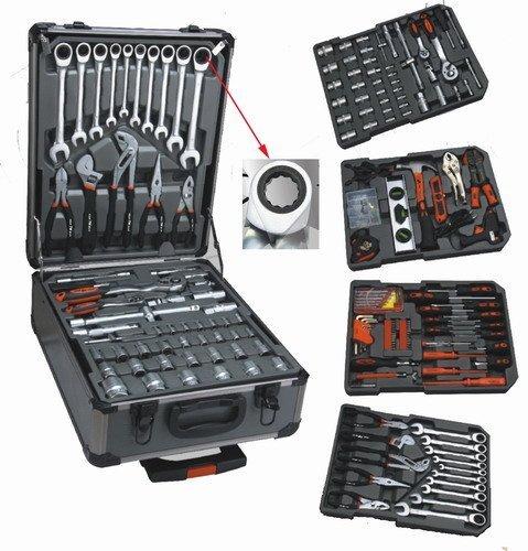 186 tlg. Werkzeug-Set mit RINGRATSCHEN im Trolley-Koffer Werkzeugkoffer CV