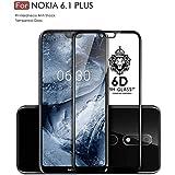 Original Premium Nokia 6.1 + Tempered Glass – WOW Imagine Premium 6D Full Glue NOKIA 6.1 Plus Tempered Glass, Full Edge-Edge Screen Protection For Nokia 6.1 Plus [ SPECIAL PRICE FOR NOKIA - LIMITED PERIOD OFFER ] - Black