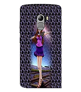 PrintDhaba Cute Girl D-4998 Back Case Cover for LENOVO VIBE X3 c78 (Multi-Coloured)