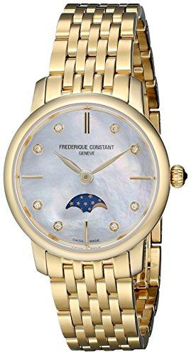 Frederique Constant FC206MPWD1S5B - Orologio da polso Donna, Acciaio inox, colore: Oro
