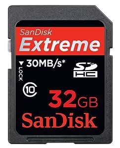 SanDisk Extreme SDHC 32GB Speicherkarte (Retailverpackung)