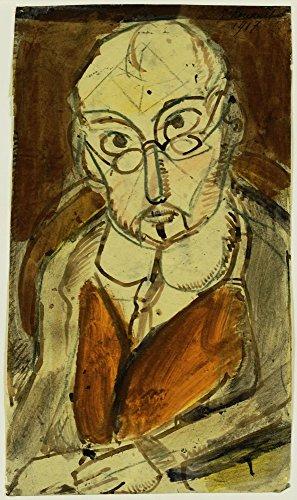 Das Museum Outlet-Georges Rouault-Mann mit Brille-Leinwanddruck Online kaufen (152,4x 203,2cm)