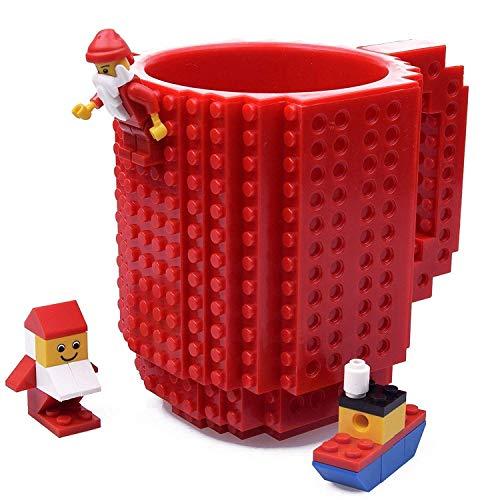 ck Mug, Building Blocks Tasse Puzzle Becher, Vatertag Weihnachten Geschenk Idee (Rot) ()