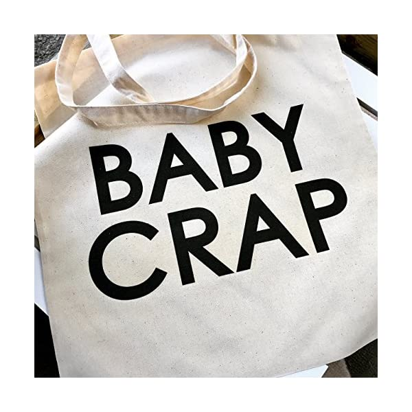 Baby Crap. Canvas Over the Shoulder Tote Bag - handmade-bags