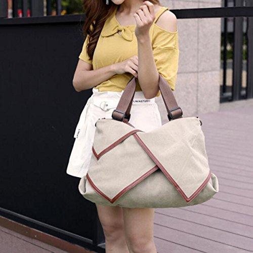 Canvas Handtaschen Art Und Weise Schulter Kurierbeutel Große Beutel Große Kapazität Wildes Pack Einfache Tragbare Lässig Taschen Multi-Funktions-Tasche Khaki
