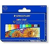 Staedtler - Noris Club 241 - Etui Carton 12 Pastels à l'Huile Assorties