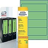 Avery Zweckform L4768-20 Ordner-Etiketten 20 Blatt grün