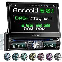 "XOMAX XM-DDA711 Android 6.0.1 radio de coche / naviceiver con GPS + 7 ""/ 18 cm pantalla táctil + soporte WIFI / 3G / 4G / DAB+ / OBD2 + Bluetooth manos libres + USB (2TB) y SD (256GB)"