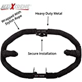 AllExtreme Heavy Duty Metal with Rope Stylist Real Customized 8 Bend Rope Safety Leg Crash Guard (Black)