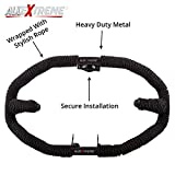 #5: AllExtreme Heavy Duty Metal With Rope Stylist Real Customized 8 Bend Black Rope Safety Leg Crash Guard For Royal Enfield Bullet Classic 350 / 500, Standard and Electra
