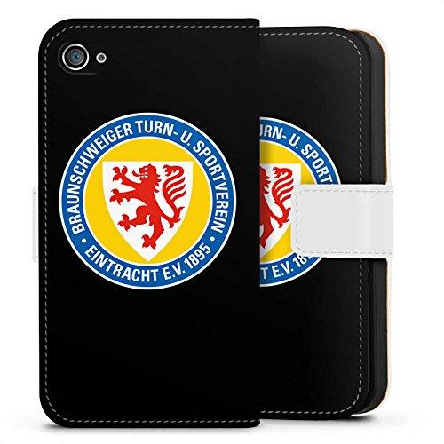 Apple iPhone X Silikon Hülle Case Schutzhülle Eintracht Braunschweig Fanartikel Fussball Sideflip Tasche weiß