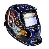 Instapark ADF Series GX-350S Solar Powered Auto Darkening Welding Helmet with Adjustable Shade Range #9 - #13 (Patriotic) PatternName: Patriotic, Model: GX-350S, Tools & Outdoor Store by Go Outdoor