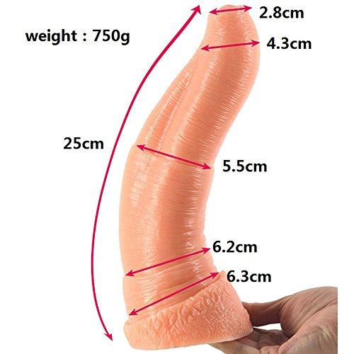 Elefanten Nase Dildo mit Anal Dildo Gesundheitswesen Silikon Material Gesundheitswesen Sex Spielzeug-25cm,Flesh color - 2
