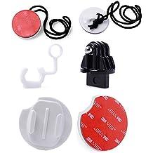 MadridGadgetStore® Kit Básico Esencial Set Accesorios de Surf para Cámara VideoCámara Go Pro GoPro HD Hero6 Hero5 Hero4 Hero3+ Hero 6 5 4 3+ 2 1 (Black, Silver) Session SjCam Sj4000 Sj5000 Sj6000 Sj7000 M10 M20 Xiaomi Yi 4K Campark Rollei Garmin Virb FCS Tapón de Bloqueo Goma Practica SnowBoard Paddle WakeBoard Kayak Cubiertas Botes con Soportes Planos Tabla Adhesivo Pegatina 3M Amarres Anclajes Acción Deportiva