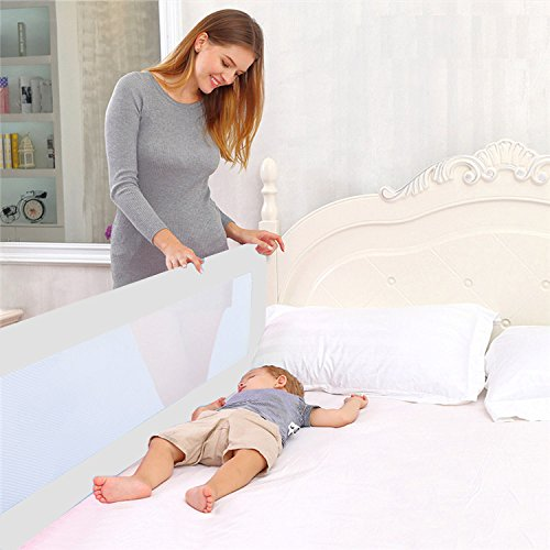 Star Ibaby - Barrera de cama 150 cm abatible, color blanco
