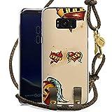 DeinDesign Samsung Galaxy S8 Plus Carry Case Hülle zum Umhängen Handyhülle mit Kette Amour Love Liebe