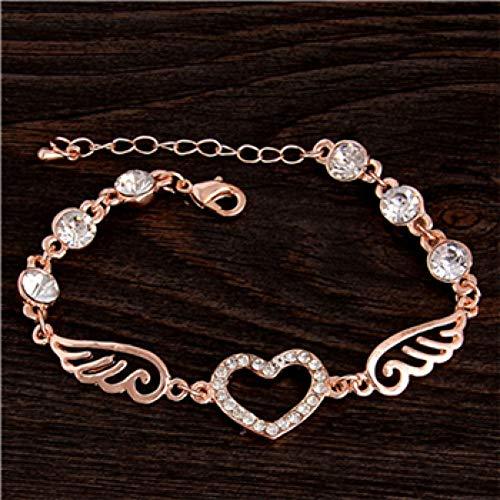 XIHUANA Runde Micro Mosaic Zirkonia Rose Gold Armband Schmuck Österreichischen Kristall Top-Qualität Großhandel Herz Blume Armbänder