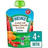 Heinz Lisse Rouge Doux Poivre, Tomates Et Carottes 4 Mths + 100G - Paquet de 6