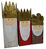 khevga Windlicht Weihnachten König 3er Set