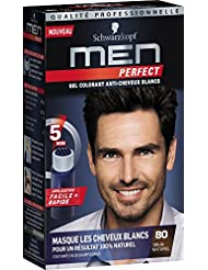 Schwarzkopf Men Perfect - Gel Colorant Anti-Cheveux Blancs - Brun Naturel 80