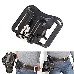 CoolDi Fast Loading Camera Hard Plastic Holster Waist Belt Quick Strap Buckle Button Mount Clip for Dslr Cameras Canon 70d 60d T5i 400d 500d Etc