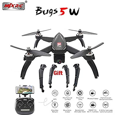 Studyset MJX Bugs 5W B5W Drone with 1080P Camera Adjustable Brushless Motor GPS FPV RC Quadcopter 5G WIFI Drone