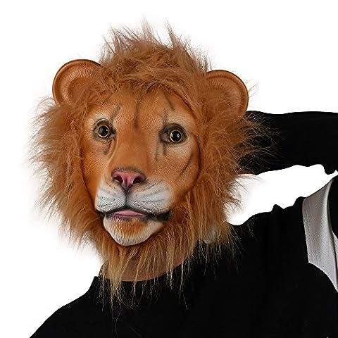 Party Storyla Lion masque masque en latex tête masque d'animal
