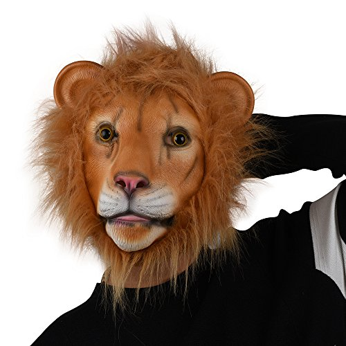 Party Story löwe maske latex tierkopf maske neuheit kostüm - (Kostüme Löwe Maske)