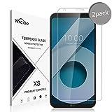 Wrcibo [2-Pack] LG Q6 Film Protection écran, 9H 0,26mm Screen Protector Ultra-Résistant et Anti-traces de doigts, Film Protecteur D'écran en Verre Trempé HD pour LG Q6
