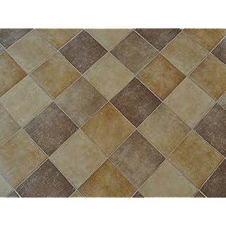 PVC in Fliesenoptik, diagonal, beige-braun - von Alpha-Tex 9.95€/m² (kleines Musterstück)