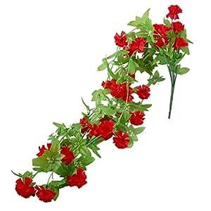 Rouge artificielle Fleur de floraison des plantes Décoration de mariage Arrangement