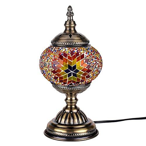 características: Nuestra lámpara de mosaico única es 100% hecha a mano y creada por el maestro artesano. Contiene piezas de vidrio bien cortadas, coloreadas y cuidadosamente ensambladas para lograr un diseño particular de estilo turco / marroquí a la...