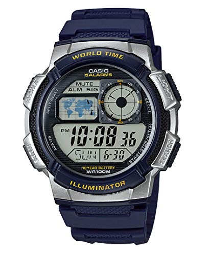 Casio Collection AE-1000W-2AVEF, Orologio con Luce LED da Uomo,...