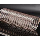 Manichetta MXJ61 Tubi in tubo resistente ad alta pressione Filo d'acciaio Tubo di lavorazione del legno Flessibile d'aria regolabile trasparente 1m (dimensioni : Inner diameter 40mm)