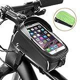SGODDE Borsa Bici Telaio per telefono cellulare, struttura telefono del basamento ATV della bici con la copertura impermeabile della pioggia Custodia Touch Screen trasparente per Smartphone