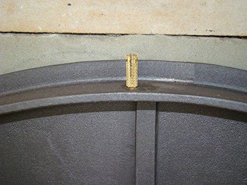 Backofentür Ofentür Pizzaofentür Holzbackofentür Steinbackofentür aus Gusseisen mit Thermometer | Außenmaße: 485x410 mm | Öffnungsrichtung: rechts