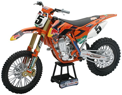 New ray motorbike 57633 - red bull ktm 450 sx-f 2014 factory racing team fedele riproduzione, scala 1:10, die cast
