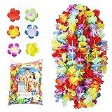 NNDOLL-100 x Hawainae Hula Leis Blumen, Farbe Misto, Hawaii-100
