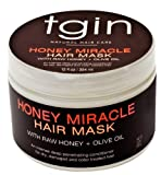 Deep Conditioner for Natural Hair - tgin Honey Miracle Hair Mask with Raw Honey + Olive Oil; Great treatment for any hair texture - Moisturizes and Repairs Dry, Damaged, or Color Treated Hair, 12oz by tgin (Thank God It's Natural)