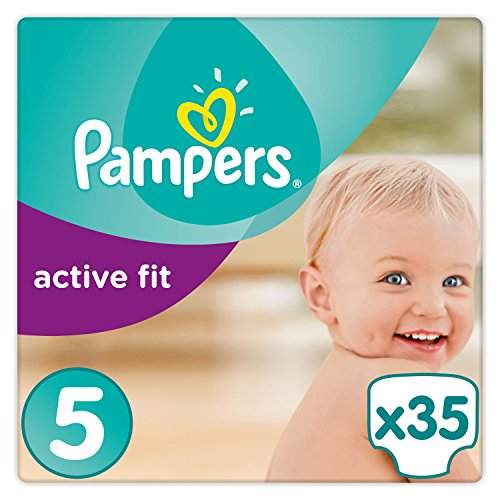 Pampers Premium Protection Active Fit Windeln, Gr. 5 Junior (11-23 kg), 1er Pack (1 x 35 Stück)