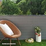 Videx-Sichtschutzmatte Rügen, Kunststoff aluminium, 100 x 300cm