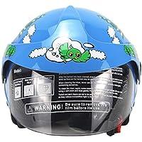 Welltobuy Casco de niños de la Personalidad Motocicleta Harley batería Coche Hombres y Mujeres bebé Casco de Seguridad