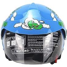 Welltobuy Casco de niños de la Personalidad Motocicleta Harley batería Coche Hombres y Mujeres bebé Casco