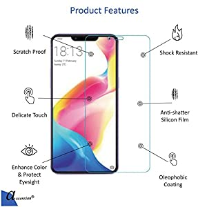 ascension 9H Hardness 2.5D Curved Ultra Clear Tempered Gorilla Glass Screen Protector for Vivo V9/X21(Transparent)