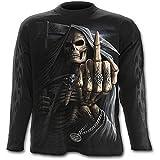 Spiral - Men - Bone Finger - Longsleeve T-Shirt Negro XL