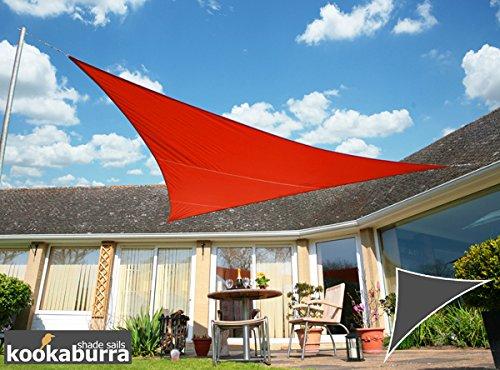 Kookaburra Voile d'Ombrage Imperméable 6,0m × 4,2m Triangle Rectangle Rouge