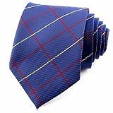 KUNQ Männer Ehe Streifen Business Kleiderordnung Ehe Student Joker Krawatte Binden,M