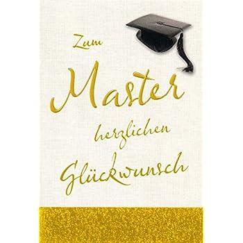 Glückwunsch Glückwunschkarte Zum Master Herzlichen